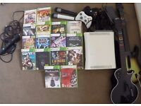 Xbox 360, Kinect, 2 Controllers, Guitar Hero Controllers, 'Lips' Microphones, 16 Games + More!