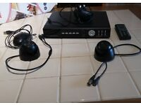CCTV Recorder plus 2 dome cameras