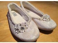 Handmade bridal flats UK6