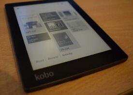 Kobo Aura eReader. 6-inch touch screen