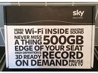 sky box -500 gig hard drive with built in wi fi-as new