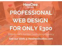 £300 Professional Website Design (Incl Unltd. Pages, Logo Design + Business Email)