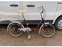 Adults Raleigh folding bike 20'' wheels £55