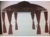 Never-used 10-Foot Diameter Burgundy Coloured Gazebo With Curtains