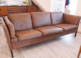 Danish Retro Vintage Settee Sofa Scandinavian