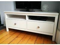 Ikea Hemnes TV stand in white