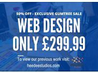 50% OFF SALE - £299.99 Experienced Website Design (Incl Unltd. Pages, Logo Design + Business Email)