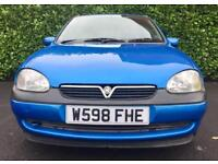 76900 MILES AUTOMATIC VAUXHALL CORSA CDX 1.4 16V 90 BHP MOT 29.9.18 OWNED FOR 11 YEARS
