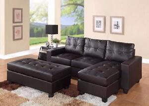Espresso Sectional  --- Free Delivery !