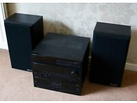 KENWOOD STEREO SYSTEM WITH SPEAKERS