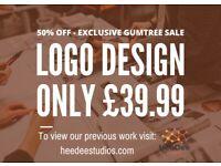 50% OFF SALE - £39.99 Experienced Logo Design (Also do Graphics Design and Website Design)