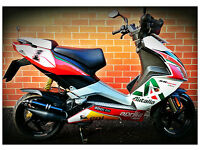 ## APRILIA SR50R SCOOTER WITH EXTENSIVE PERFORMANCE UPGRADES £1250 ONO ##