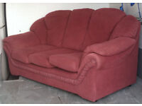 FREE DELIVERY......Burgandy 3 seater sofa.