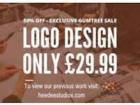 50% OFF SALE - £29.99 Experienced Logo Design (Also do Graphics Design and Website Design)