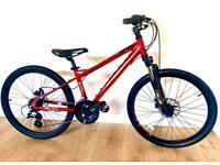 "Boys / Girls Carrera Blast 24"" Wheels Hybrid Bike GC 13"" Alloy Frame Disc Brakes"