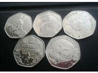 1 LEFT Full set Beatrix Potter 50p coins £12 plus postage £1.74 1ST CLASS RECORDED