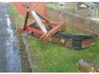 Browns tractor three point linkage slurry yard scraper reversable