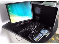 AMD PC system with model flying simulator