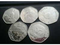 1 LEFT Full set Beatrix Potter 50p coins £12 plus postage £1.74 1ST CLASS RECORDED