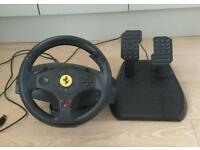 Thrustmaster Ferrari GT Experience Steering Wheel And Pedals