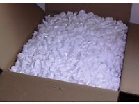 Large volume of p/styrene and foam chips for packing + air sacs + bubble-wrap ~ Four Marks ALTON