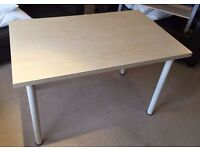 SMALL WOODEN DINING TABLE WITH REMOVABLE LEGS
