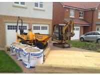 Mini digger hire with operator
