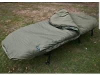 Sonik XTI Wideboy Bedchair and sleeping bag