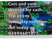 ♻️♻️Scrap cars wanted♻️♻️ Top prices paid