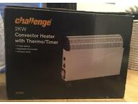 Electric heater with 24hr timer