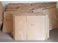 54 double wall cardboard boxes from house moving