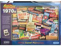 NEW Jigsaw 1970's vintage retro sweet jigsaw puzzle 1000 piece
