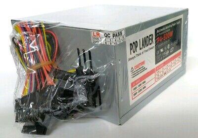 NEW 500W Standard ATX 12V Quiet FAN Power Supply Desktop/PC PSU OEM/Bulk Pack