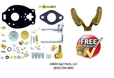 Carburetor Kit Float Ih Farmall 130 140 330 340 404 Tractor Tsx730 827 Carb