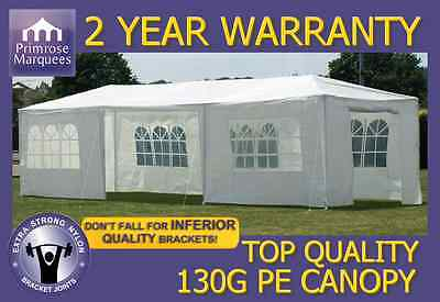 3m x 9m  Party Tent Marquee Gazebo Canopy Garden PE Waterproof White Marquees