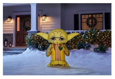 3 ft Christmas Star Wars Yoda Inflatable Decorations Outdoor Lighted Yard Decor