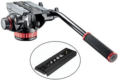 Manfrotto MVH502AH Pro Video Tripod Head with Fluid Pan & Drag System