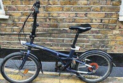 BTWIN Tilt 500 Folding Bike - Iris Blue NW10 London Collection