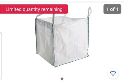 2xPack Jumbo Bags One Tonne Ton FIBC Dumpy Builder Garden.Rubble Aggregate Sack