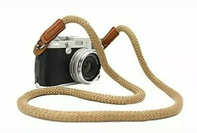 Mini Gaga Vintage Handmade Cotton Leather Camera Neck Strap Canon Nikon Fuji etc