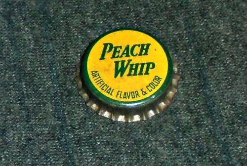 RARE Peach Whip Soda Bottle Cap Crown