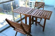 Outdoor table and two folding chairs Melbourne CBD Melbourne City Preview