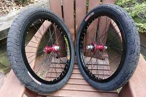 profile 9t rear hub and front annodised red hazard lite rim Singleton Singleton Area Preview