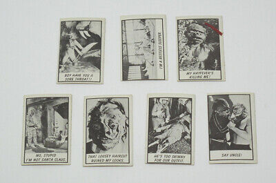 Lot of 7 1963 Topps Monster Laffs Midgee Vintage Trading Cards - VG-EX to NM-MT