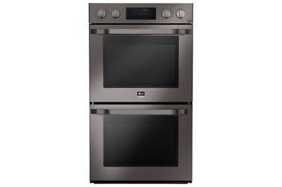"LG Studio LSWD309BD 30"" Black Stainless Electric Double Wall Oven #28526"
