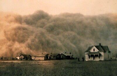 1935 Dust Bowl PHOTO, Dust Cloud, Stratford TEXAS Farm, Great Depression