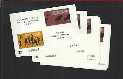 Mexico sc#C338a x11 (1968) Souvenir Sheet MNH