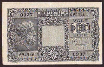 ITALY   10 Lire  1944