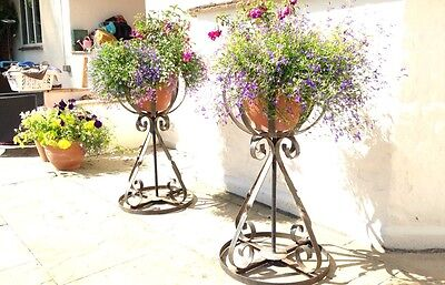 Wrought Iron Style Plant Pot Holders