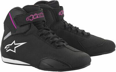 Alpinestars Women's Stella SEKTOR Street Riding Shoes (Black/Pink) 7.5